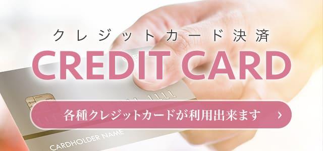 各種クレジットカードが利用出来ます。